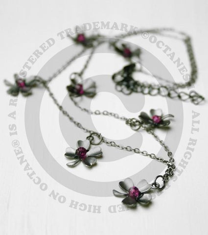 Swarovski Crystal Flowers Necklace (Hand Crafted)