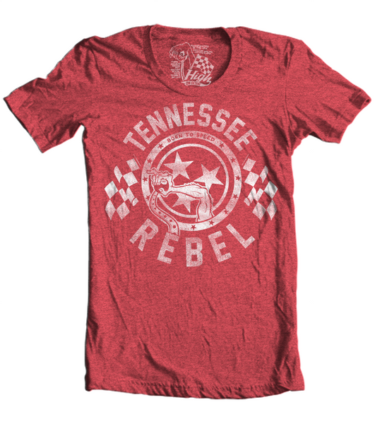 Unisex High on Octane® Tennessee Rebel Born to Speed T-Shirt