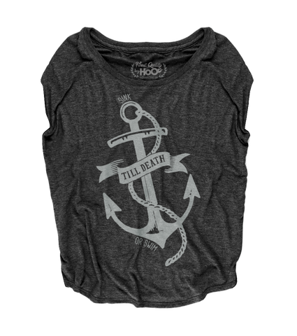 Women's HoO High on Octane Till Death Anchor Loose Fit Short Sleeve Top