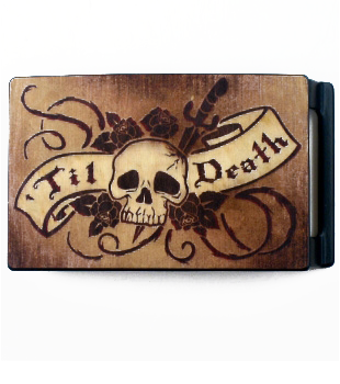 Til Death Wood Belt Buckle