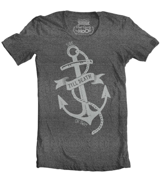 Men's HoO High on Octane Till Death Anchor T-Shirt (Color Options)