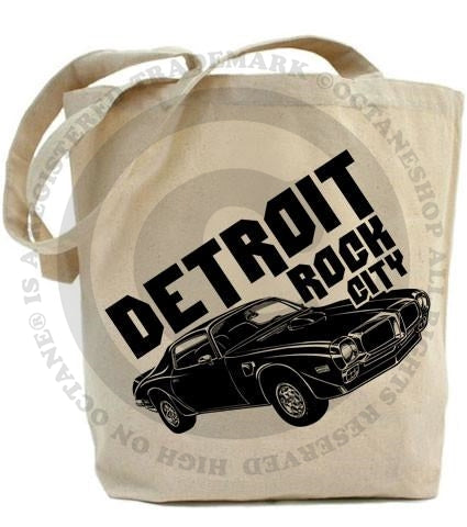High on Octane® Detroit Rock City Muscle Car© Tote Bag