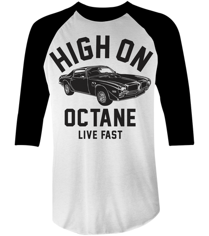 Men's High on Octane® Big Block Trans Am Muscle Car© Raglan