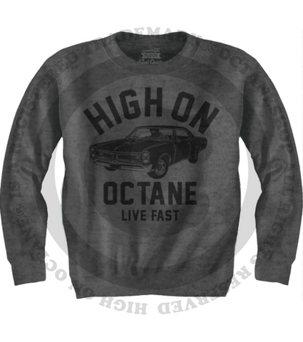 Men's HoO High on Octane Old School GTO Muscle Car Sweatshirt