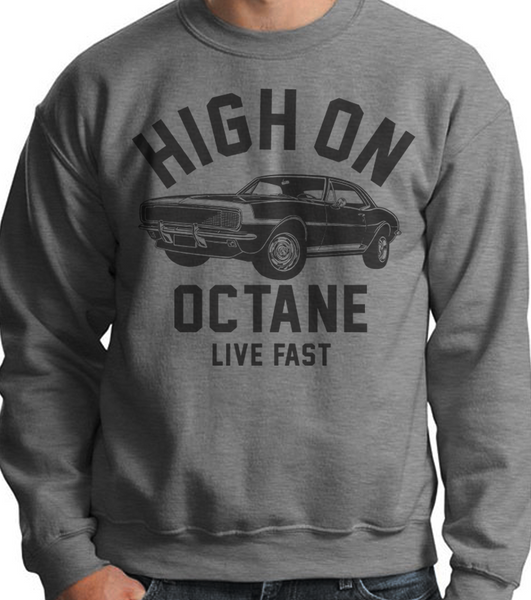 Men's HoO High on Octane Old School Camaro Muscle Car Sweatshirt