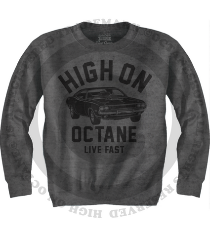 Men's HoO High on Octane Old School Challenger Muscle Car Sweatshirt