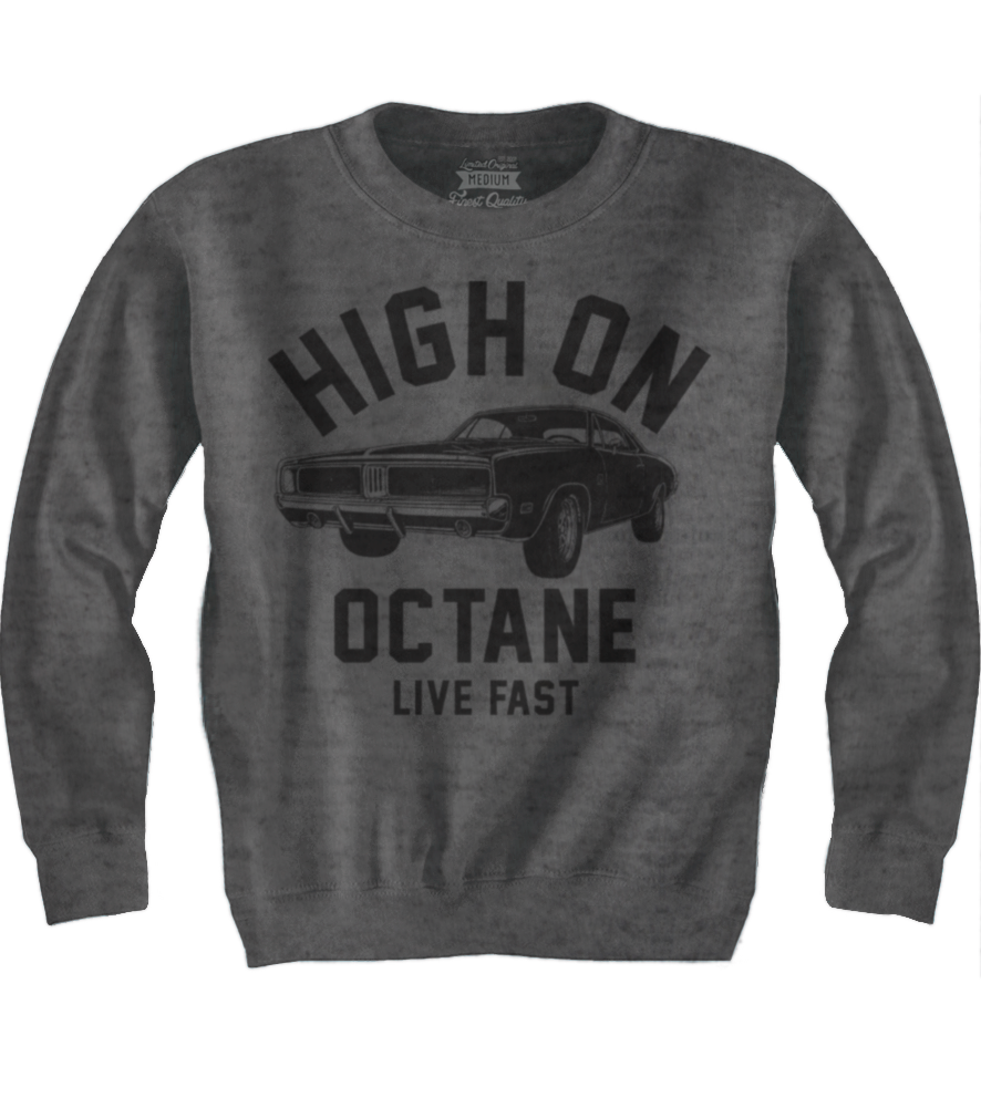 Men's HoO High on Octane Old School Charger Muscle Car Sweatshirt