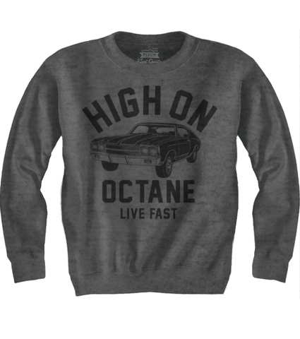 Men's HoO High on Octane Old School Chevelle Muscle Car Sweatshirt