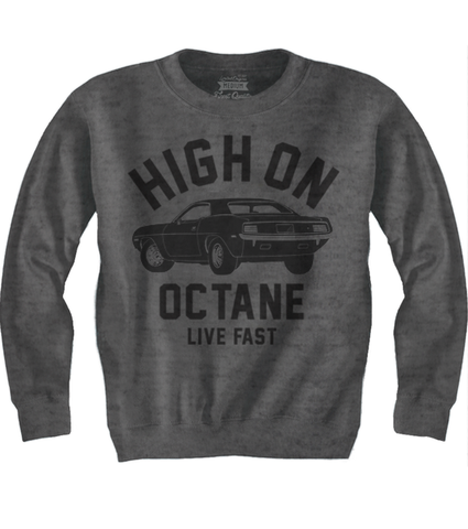 Men's HoO High on Octane Old School Cuda Sweatshirt