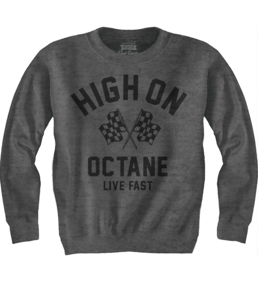 Men's HoO High on Octane Racing Flags Old School Sweatshirt