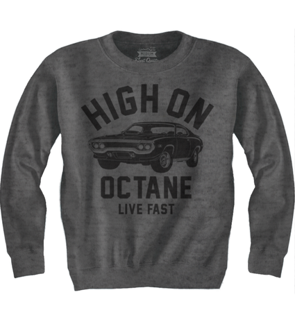 Men's HoO High on Octane Old School Road Runner Muscle Car Sweatshirt