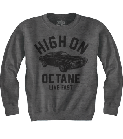 Men's HoO High on Octane Old School Trans Am Muscle Car Sweatshirt