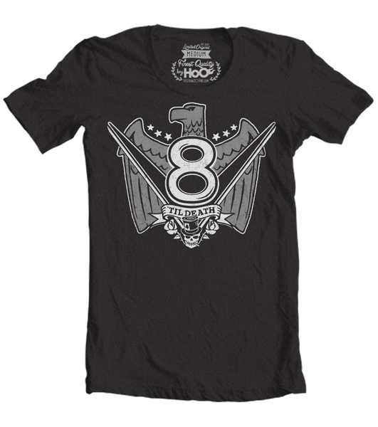 Men's HoO High on Octane V8 Til Death Muscle Car T-Shirt (Color Options)