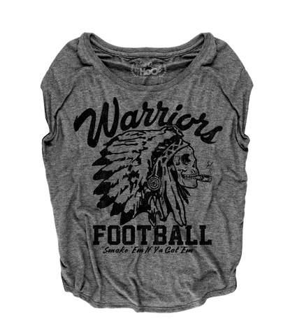 "Women's Race With The Devil ""Warriors Football Smoke 'Em"" Loose Fit Short Sleeve Top"
