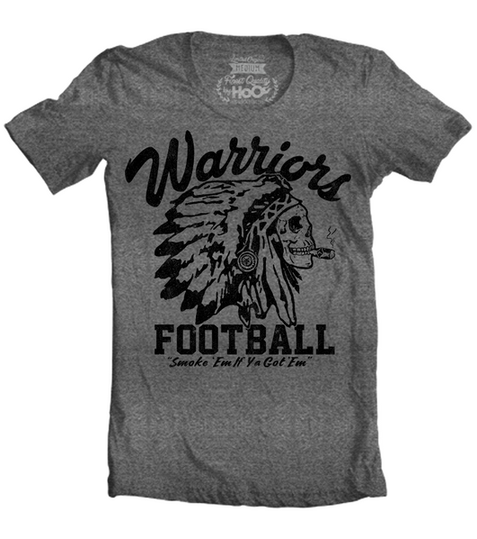 "Unisex Race With The Devil ""Warriors Football Smoke 'Em"" T-Shirt"