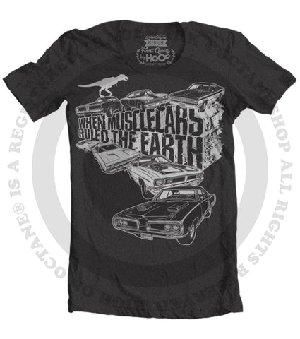 Men's HoO High on Octane When Mopar Muscle Cars Ruled The Earth T-Shirt (Color Options)