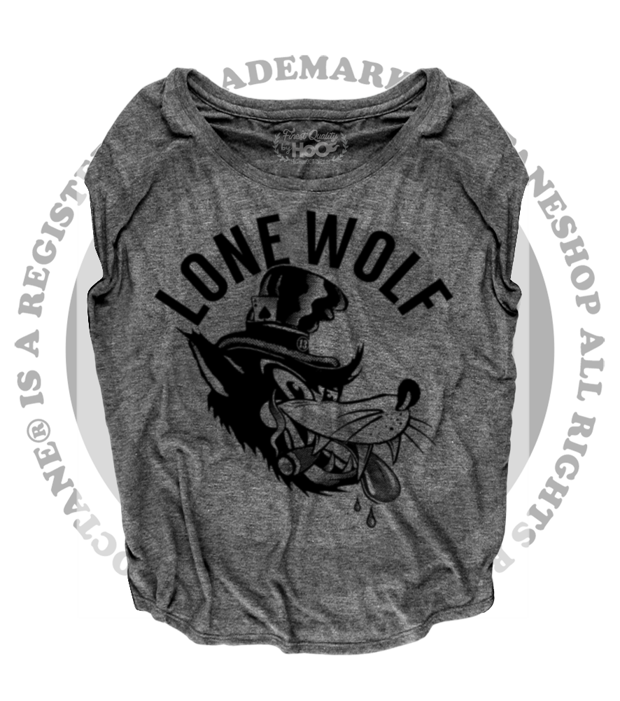 Women's HoO High on Octane Lone Wolf Loose Fit Short Sleeve Top