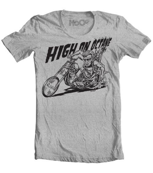 Men's HoO High on Octane Wolfie Chopper Graphic T-Shirt