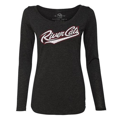 BUBBLY LONG SLEEVE T LADIES, SACRAMENTO RIVER CATS