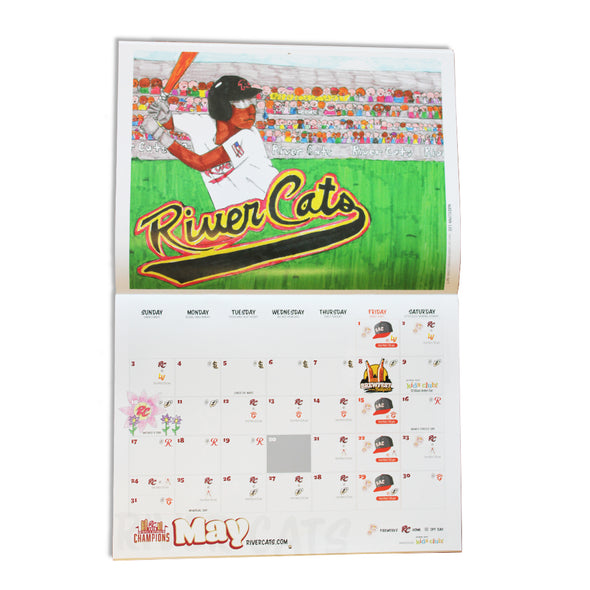 RIVER CATS CALENDAR 2020, SACRAMENTO RIVER CATS