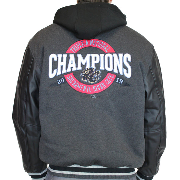 CHAMPIONS EMBROIDERED HOODED JACKET, SACRAMENTO RIVER CATS
