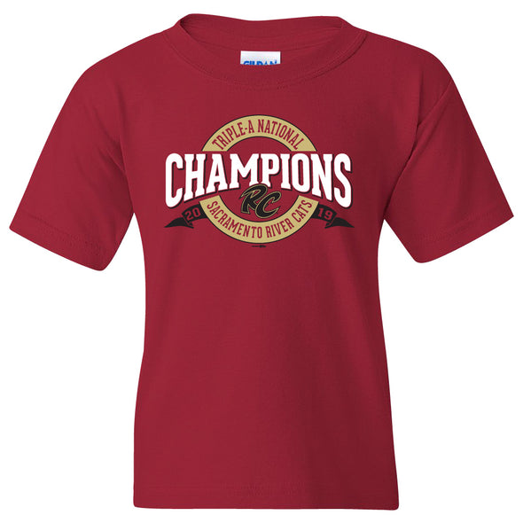 Champions 2019 Youth T-shirt, Sacramento River Cats
