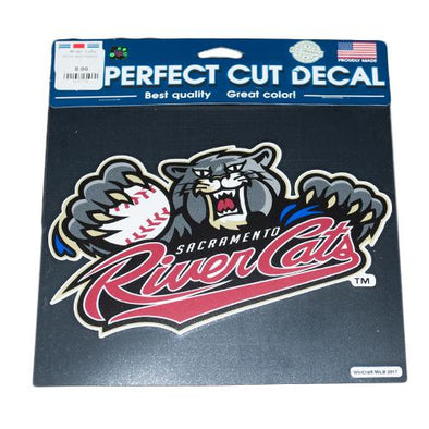 DECAL RIVER CATS 8X8, SACRAMENTO RIVER CATS
