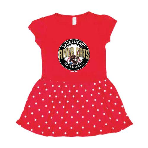 DOT DRESS INFANT, SACRAMENTO RIVER CATS