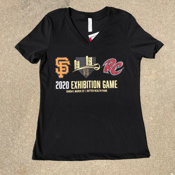 EXHIBITION GAME LADIES V-NECK T-SHIRT, SACRAMENTO RIVER CATS