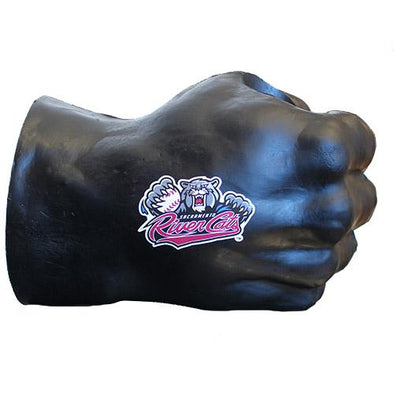 FIST DRINK HOLDER - BLACK, SACRAMENTO RIVER CATS