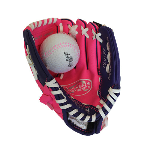 "GLOVE 9"" PINK/PURPLE, SACRAMENTO RIVER CATS"