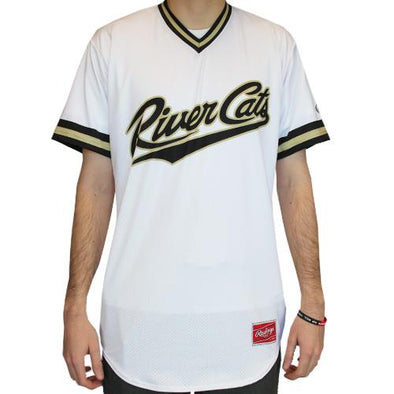 JERSEY WHITE V-NECK, SACRAMENTO RIVER CATS