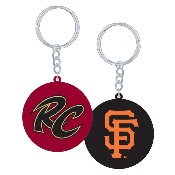 KEYCHAIN 2 SIDED RC AND SF, SACRAMENTO RIVER CATS