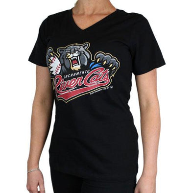 PRIMARY V-NECK BLACK, SACRAMENTO RIVER CATS