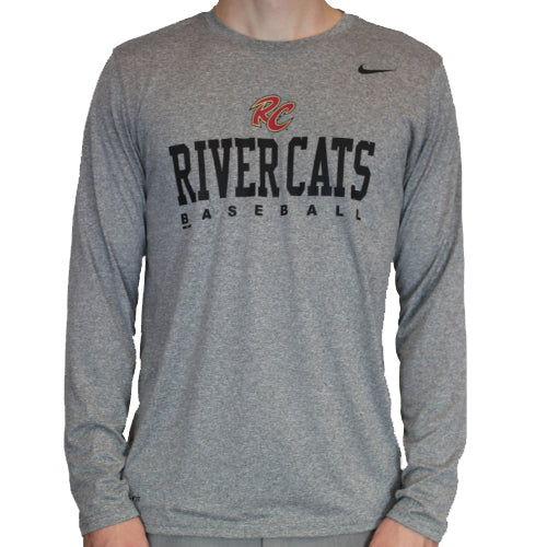 LEGEND LONG SLEEVE GREY, SACRAMENTO RIVER CATS