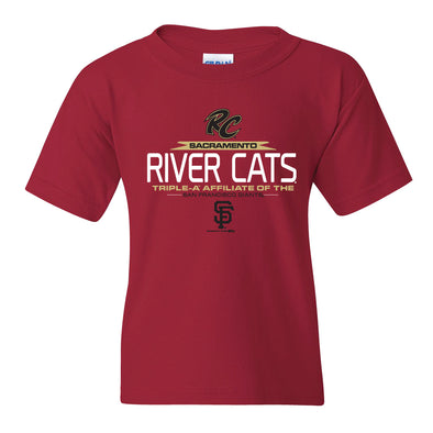 NOTCH YOUTH TEE, SACRAMENTO RIVER CATS