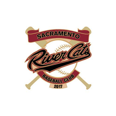 PIN CROSSED BATS 2017, SACRAMENTO RIVER CATS