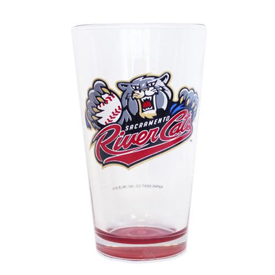 PINT GLASS RED BOTTOM, SACRAMENTO RIVER CATS