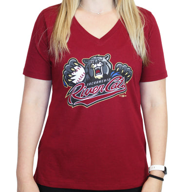 PRIMARY V-NECK T LADIES ARMOUR, SACRAMENTO RIVER CATS