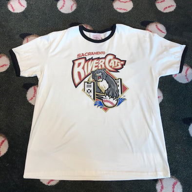 RETRO PRIMARY RINGER T, SACRAMENTO RIVER CATS