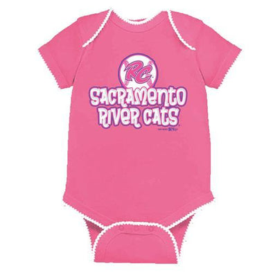 SOLID PINK ONESIE, SACRAMENTO RIVER CATS