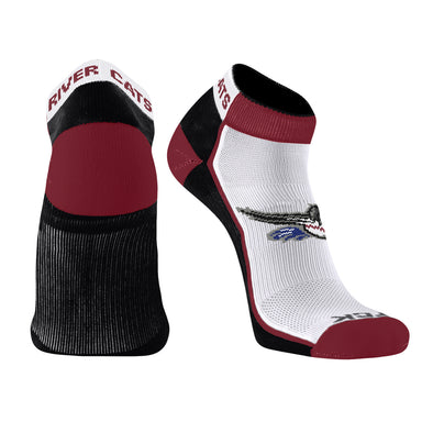 SOCK LOW CUT STRIPE, SACRAMENTO RIVER CATS