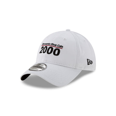 TEAM EST 9/20 WHITE ADJUSTABLE HAT, SACRAMENTO RIVER CATS