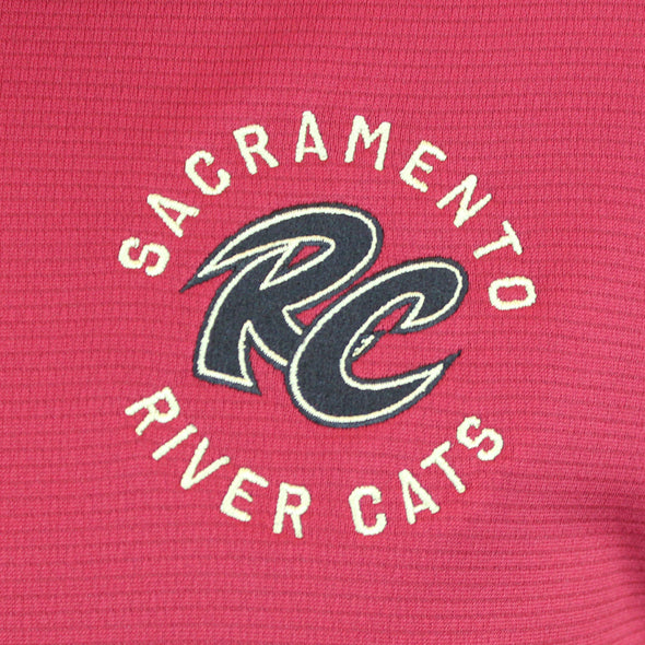 TECH CARD POLO MENS, SACRAMENTO RIVER CATS