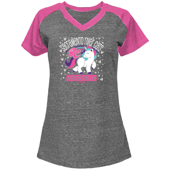 UNICORN TROPICAL PINK YOUTH TEE, SACRAMENTO RIVER CATS