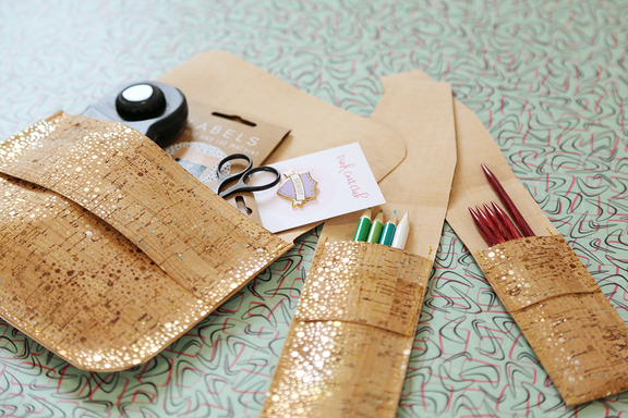 12 Days of Christmas, Day 2 - Sewing with Cork!
