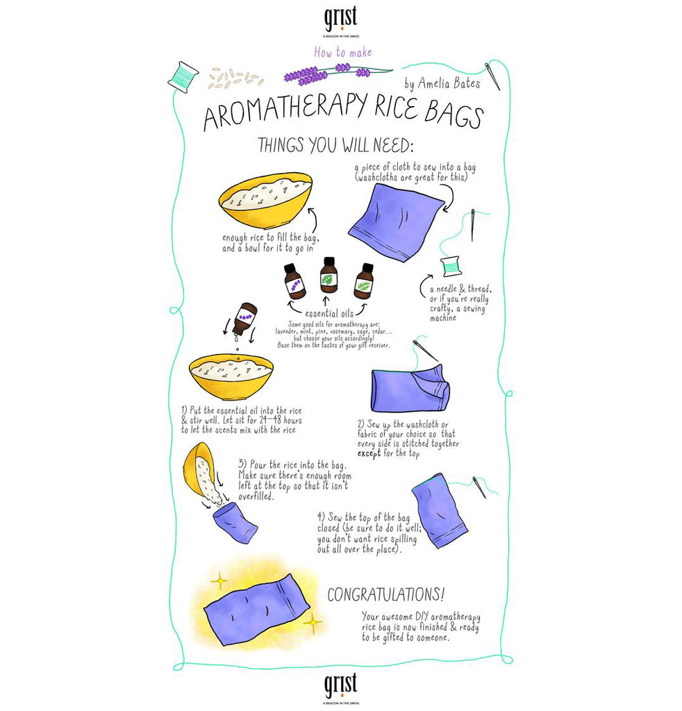 12 Days of Christmas, Day 11 - Aromatherapy Rice Bag