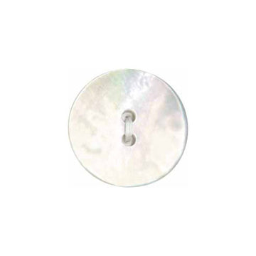 Elan - Buttons - 25mm - Pearl Flat