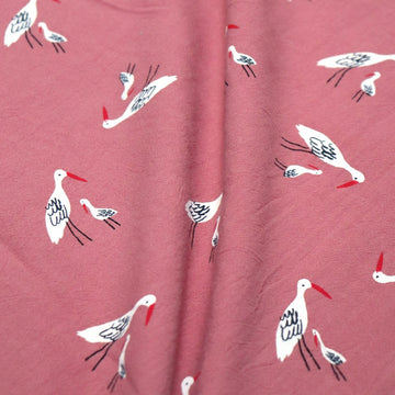 Katia - Rustic Cotton - Salinas Birds - Red