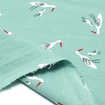 Katia - Rustic Cotton - Salinas Birds - Green